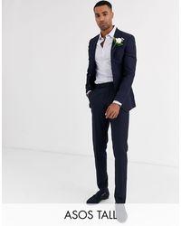ASOS Tall Wedding Super Skinny Blazer - Blue
