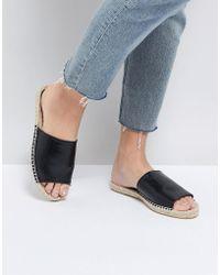 Truffle Collection - Espadrille Mule Sandal - Lyst