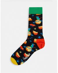 Happy Socks Chaussettes motif fromage - Multicolore