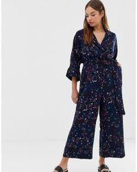 Monki Printed Jumpsuit - Blue