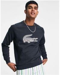 Lacoste - Свитшот С Круглым Вырезом И Логотипом Sport-серый - Lyst