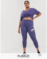 Nike Nike Air Running Plus - Leggings blu