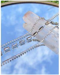 True Decadence – Armbänder im 3er-Pack mit Strasssteinchenbesatz - Mettallic