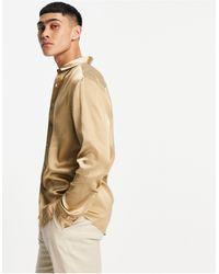 ASOS Satijnen Overhemd - Bruin