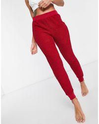 ASOS Leggings confort rojos con acabado esponjoso Mix & Match