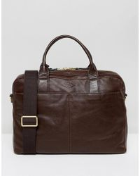 Fossil - Laptop Bag In Leather - Lyst
