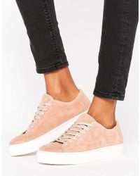 SELECTED - Femme Donna New Suede Trainer - Lyst