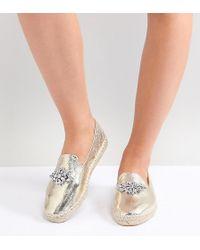 ASOS - Design Janeen Wide Fit Embellished Espadrilles - Lyst