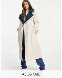 ASOS ASOS DESIGN Tall - Trench-coat double épaisseur - marine - Bleu