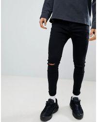 Kings Will Dream - Super Skinny Jeans In Black - Lyst