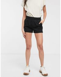 ONLY – New – Jersey-Shorts - Schwarz