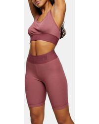 TOPSHOP Activewear legging Shorts - Pink