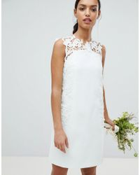 Ted Baker - Tie The Knot Tunic Dress With Applique Lace - Lyst