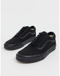 Vans - Черные Кроссовки Old Skool-черный - Lyst