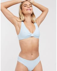 & Other Stories Ribbed Low Rise Bikini Briefs - Blue