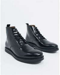 H by Hudson Battle Boots - Black