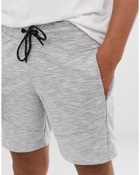 Jack & Jones – Intelligence – e Shorts aus meliertem Jersey - Weiß
