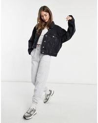 ASOS Organic Cotton Blend Denim '90's Jacket - Black