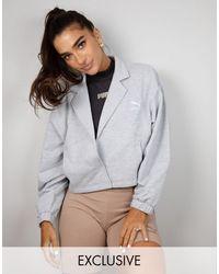 PUMA Серая Меланжевая Куртка Укороченного Кроя X Stef Fit – Эксклюзивно Для Asos-серый