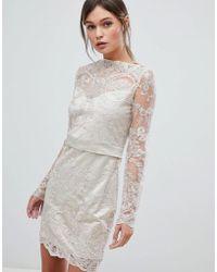 Zibi London Zibi Lace Dress - Metallic
