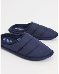 Original Penguin Padded Mule Slippers - Blue