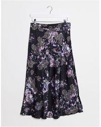 Vero Moda Bias Cut Midi Skirt - Blue