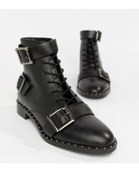 ASOS - Arabelle Leather Lace Up Boots - Lyst