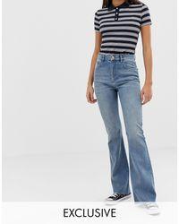 Reclaimed (vintage) The '99 - Jeans a zampa blu medio slavato