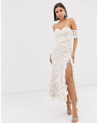 Love Triangle Lace Bandeau Maxi Dress - White