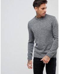 ASOS - Asos Midweight Jumper In Black And White Twist - Lyst