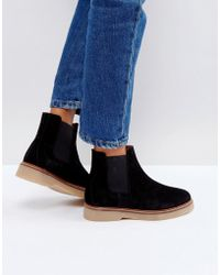 Pieces - Suede Boots - Lyst