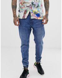 Bershka – Join Life – Jeans-Jogginghose aus Bio-Baumwolle - Blau