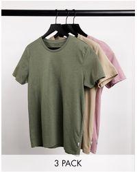 Burton 3 Pack T-shirts - Green