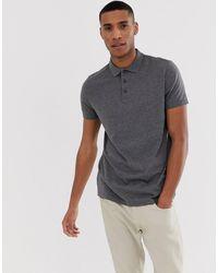 ASOS – Jersey-Polohemd - Grau