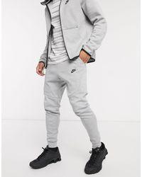 Nike Серые Флисовые Джоггеры Tech 805162-063-серый