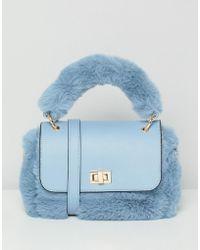 ASOS - Mini Faux Fur Bag With Detachable Strap - Lyst
