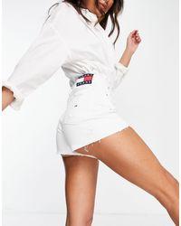 Tommy Hilfiger Pantaloncini di jeans bianchi - Bianco