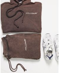 Collusion Unisex Oversized Joggers - Brown