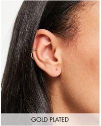 Orelia Twisted Ear Cuff - Metallic