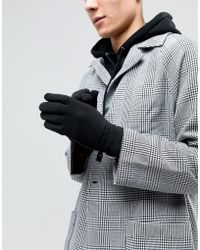 HUNTER - Fleece Gloves In Black - Lyst