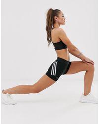 adidas Originals - Adidas Training Three Stripe Bootie Shorts In Black - Lyst