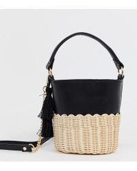 1175ad57bd ALDO Hatchet Mini Tote With Buckle Detail in Black - Lyst