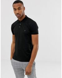 3752d7dcee6 French Connection - Essentials Polo In Black - Lyst