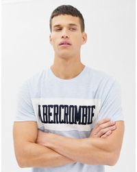 Abercrombie & Fitch Chest Panel Logo T-shirt In Light Blue