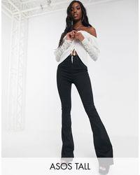 ASOS Asos Design Tall - Sculpt Me - Wijd Uitlopende Jeans - Zwart