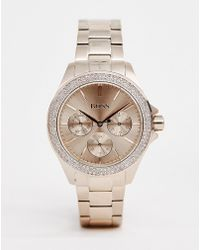 BOSS 1502443 Premiere Bracelet Watch In Rose Gold - Metallic