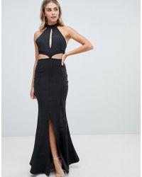 Missguided Lange Bandage-jurk Met Keyhole - Zwart