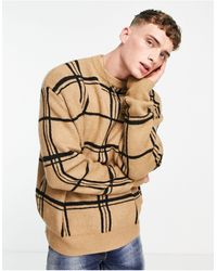 Mennace Oversized Knitted Sweater - Black