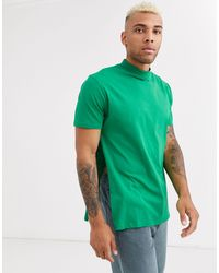 ASOS Relaxed Longline T-shirt With Side Splits - Green