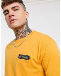 Napapijri Patch Logo T-shirt - Yellow